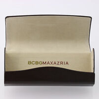 New BCBG Maxazria Brown Sunglasses Case - Hard Magnetic Designer Eyewear Holder