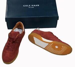 Cole Haan Grandpro Turf Collection Suede Mens Fashion Sneakers 9 Mahogany NIB