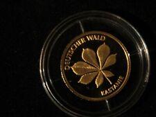 20 EURO IN GOLD DEUTSCHER WALD KASTANIE  2014 PRÄGESTÄTTE F SELTEN RAR