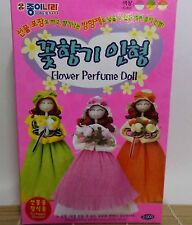 Korean Flower Perfume Doll Origami Folding Paper Kit Green
