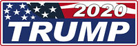 "Trump 2020 Exterior Bumper Sticker 9"" x 3"" Donald Trump for President political"