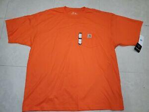 NEW!! NWT Carhartt K212 Orange Work Dry Pocket T-Shirt 2XL