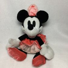 "Walt Disney World Minnie Mouse Pink Dress 100 Years of Magic Plush Bean Bag 9"""