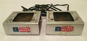 Lot of 2 Vintage Creepy Crawlers Thingmaker Heater Ovens For Parts Not Working