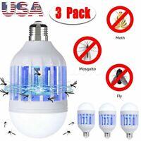 Lot Light Zapper LED Light Bulb Bug Mosquito Fly Insect Killer Bulb Lamp Home US