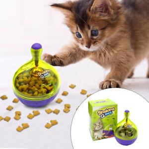 Interactive Cat Toys Pet Leakage Food Dispenser SNACKY Kitten Ball Slow Feeder