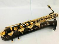 Professional Black Baritone Saxophone Eb Sax Exquisite Hand carved Brand New