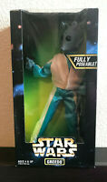 "Star Wars Greedo 12"" Figurine Collectible Fully Poseable w/Blaster 1997 NIB"