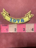 Vintage 1978 Date Tab Patch - Birthday Year Or Graduation Year Or Event ? 83P7