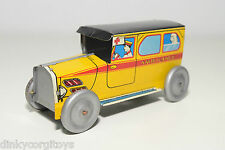 TINPLATE BLECH CR ROSSIGNOL ? AMBULANCE OLDTIMER YELLOW NEAR MINT CONDITION
