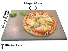 Brotbackstein Pizzastein heisser Naturstein 40x30x2cm Made in Germany Ofen Grill
