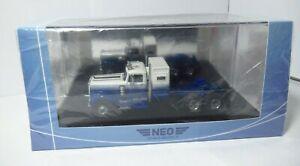 Neo Models Germany White Road Boss Truck 1970s 70s Sleeper Semi NEO64015 1/64