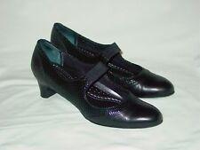 Womens Trotters Dressy Mary Jane Pumps Heels Shoes KidSkin Snake Print Black 9 N