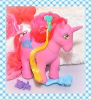 ❤️My Little Pony G1 VTG Tabby Kitty Cat HAPPY TAILS Pink Unicorn HAIR PICK❤️