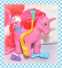 ❤️My Little Pony G1 VTG Tabby Kitty Cat HAPPY TAILS Pink Unicorn HAIR PICK❤️