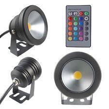 Neue 12V 10W Unterwasser flache Linse wasserdicht LED Lampe Outdoor RGB