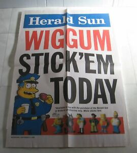 The Simpsons Banner Poster  - Herald Sun Stick Ems Figurines 2009 Wiggum