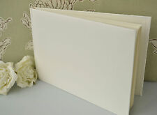 Plain, Blank, Ivory Guest Book. DIY Wedding Guest Book.