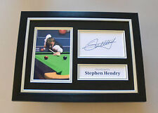 Stephen Hendry Signed A4 Photo Framed Authentic Snooker Autograph Display + COA