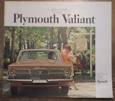 PLYMOUTH VALIANT original 1965 USA Mkt Larger Format Sales Brochure