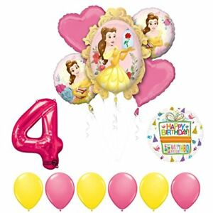 Beauty and The Beast 4th Birthday Party Balloon supplies decorations