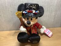 """Disney Store Mickey Mouse Plush Soft Toy Large 14""""  London Beefeater Rare Stamp"""