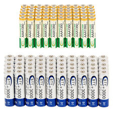 Lot 50PCS AAA 1350mAh +50PCS AA 3000mAh 1.2V BTY Ni-MH Rechargeable Battery Cell