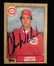 CHRIS WELSH 1987 TOPPS Autographed Signed AUTO Baseball Card 592 REDS RARE