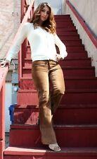 GUCCI Women Leather Hot PANTS Brown $2200 Dress PANTS Size M