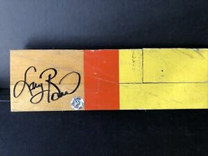 Larry Bird signed 12X31/2 Lakers Game Used Floor board (A) Bird Hologram