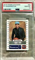 2019-20 Panini PJ Washington Jr. Rookie RC Stickers PSA 10 GEM MINT Hornets 🔥📈