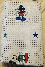 Vintage Disney Mickey Mouse Polka Dot Twin Sheet Set Flat & Fitted Kids Bedding