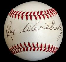 RARE Roy Weatherly dec.91 PSA/DNA 1943 New York Yankees Indians Signed Baseball