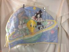 Vintage LOONEY TUNES Baby Bugs Bunny Tweety & Sylvester ORBIT SPACE Crib Hanging