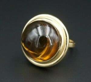 Tiffany & Co Paloma Picasso 18k Yellow Gold Citrine Ring Size 9 Pouch RG2983