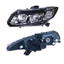 Glass Lens For Honda Civic 2012-2015 Composite Headlight OEM Assembly+HID Lamp