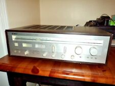 Vintage Yamaha Natural Sound Stereo Receiver Model CR-640 Silverface Wood Case