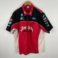 Jim Beam Racing Ford Mens Shirt Size XL Embroidered Patches Short Sleeve