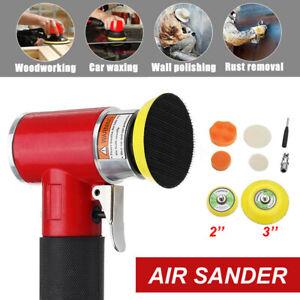 "9Pcs 2"" 3"" Mini Air Sander Kit Car Pneumatic Orbital Polisher Polishing MacYUKN"
