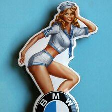 BMW München Tür- Emailschild MAKELLOS Sexy PIN UP Girl Matrosin Motorräder Autos