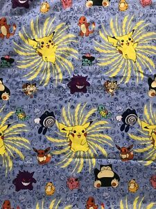 Vintage 90s Pokémon All Over Print Sheet/Tapestry Measures 58x40""
