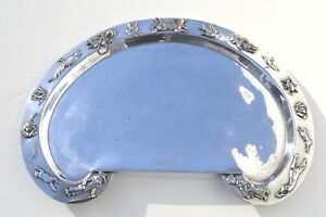 RARE ANTIQUE SILVER PLATED BABY FOOD SERVING TRAY BY REED & BARTON SILVER CO