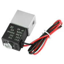 """12V Electric Solenoid Air Valve DC 1/4"""" 2 Way Normally Closed Pneumatic Aluminum"""