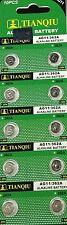 30 PCS TIANQIU LR58 AG11 362 LR721 1.5V Alkaline Battery Watch Calculator toys