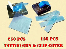 TATTOO GUN MACHINE COVERS x250 & Clip Cord Sleeves x125 BAGS(Needles ink )