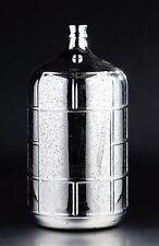 "New 22"" Hand Blown Glass Art Vase Bottle Silver Decorative"