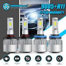9005+H11 LED Headlight Bulbs For 2008-2019 Chevrolet Silverado 1500 2500 3500 S2
