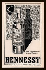 1957 AD SWISS  HENNESSY COGNAC BOTTLE GRAPES ARMORED ARM