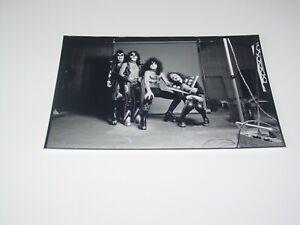 KISS 8X12 PHOTO PAUL ACE GENE PETER HOTTER THAN HELL ALBUM COVER STUDIO 1974 #73