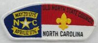 Old North State Council 070 Greensboro, NC WHT BDR CSP MINT [B2406]